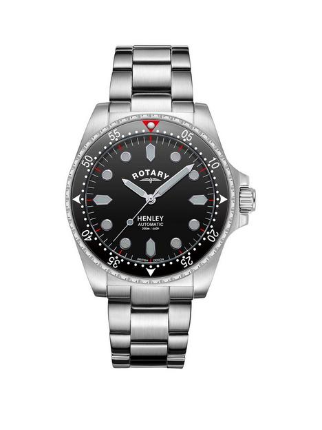 rotary-henley-black-dial-stainless-steel-bracelet-watch