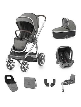 Oyster Oyster 3 Stroller Bundle With Carrycot, Capsule Car Seat  Base - Mirror Chassis/Mercury
