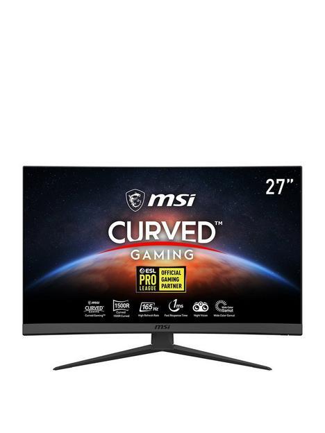 msi-optix-g27c6-27-inch-full-hd-1ms-165hz-amd-freesync-curved-1500r-gaming-monitor