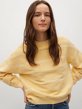Mango Fine Knit Sweater - Yellow