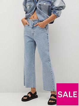 mango-cropped-high-waist-palazzo-jeans-blue