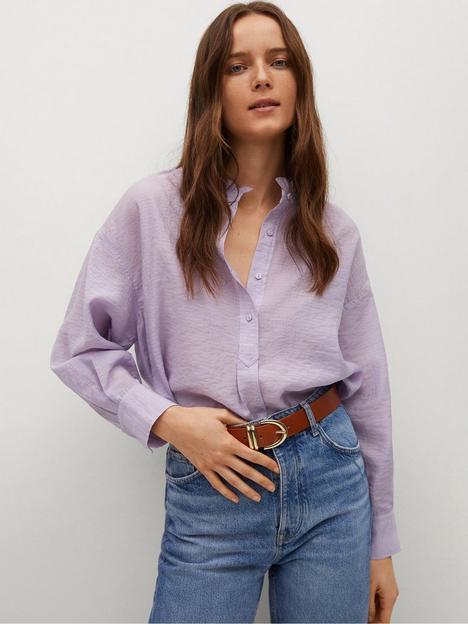 mango-lightweight-round-neck-blouse-light-purple