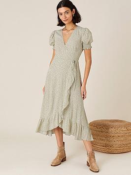 monsoon-green-ditsy-print-wrap-dress