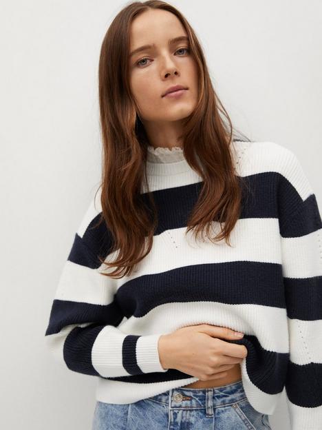 mango-stripe-knitted-sweater-navy