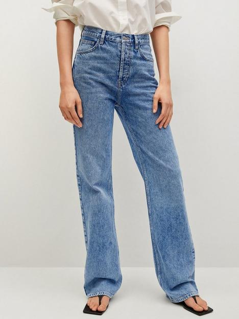 mango-high-waist-full-length-jean-blue