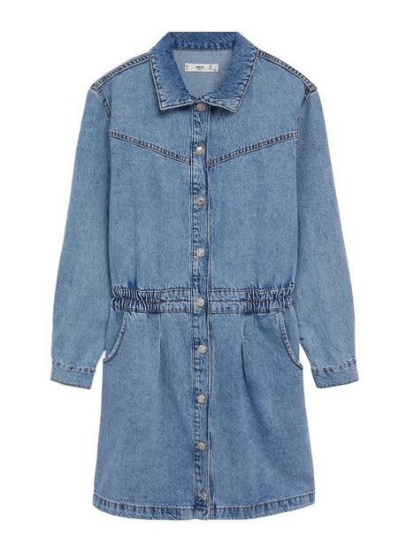 mango-denim-mini-dress-blue