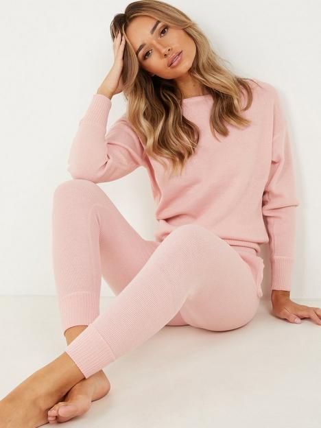 quiz-slash-neck-lounge-set-pink