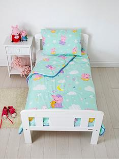 rest-easy-sleep-better-peppa-pig-coverless-quilt-4-tog-junior-with-filled-pillow