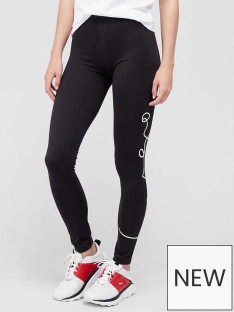 hugo-nicago-script-logo-leggings-black