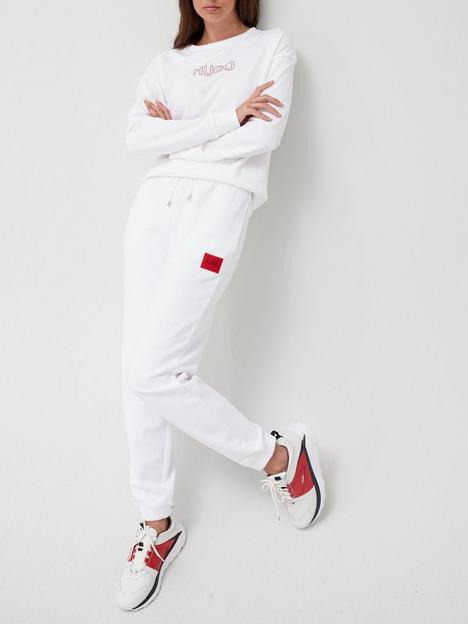 hugo-dachibi-red-label-joggers-white