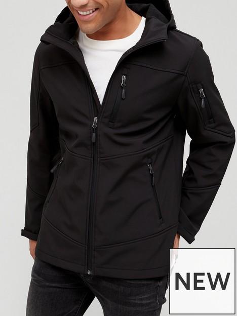 very-man-softshell-windproof-jacket-black