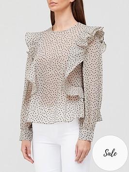 sofie-schnoor-frillednbsplongnbspsleeve-spot-blouse-ivory