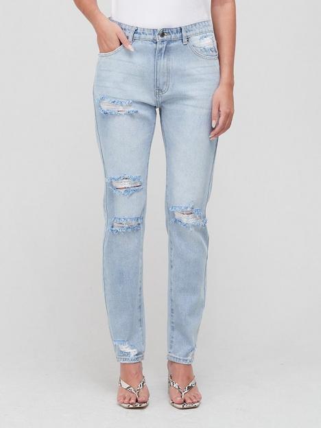 sofie-schnoor-distressed-bolt-pocket-jeansnbsp--denim