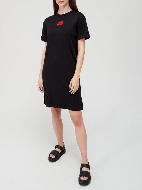 hugo-neyle-red-label-jersey-t-shirt-dress-black