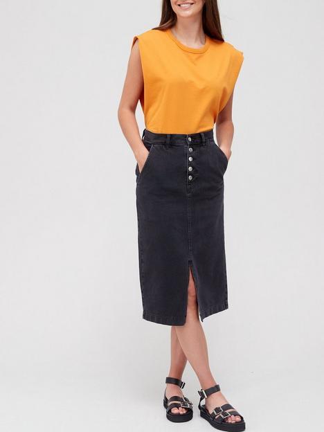 boss-midi-denim-skirt-black