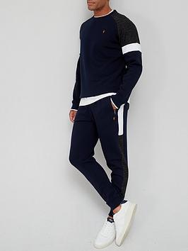 very-man-textured-panel-jogger-navynbsp