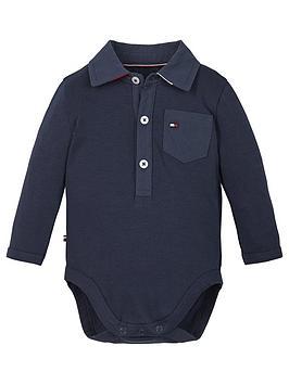 tommy-hilfiger-baby-boys-long-sleeve-polo-bodysuit-navy
