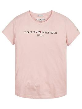 tommy-hilfiger-girls-essential-short-sleeve-t-shirt-pink