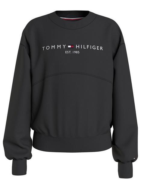 tommy-hilfiger-girls-essential-crew-neck-legging-set-black