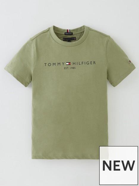 tommy-hilfiger-boys-short-sleeve-essential-logo-t-shirt-olive