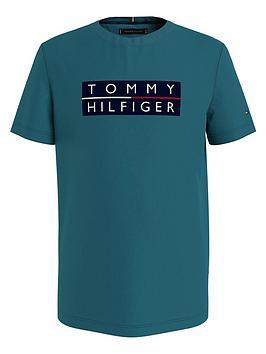 tommy-hilfiger-boys-short-sleeve-logo-t-shirt-teal