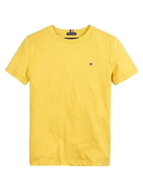 tommy-hilfiger-boys-short-sleeve-essential-cotton-t-shirt-yellow