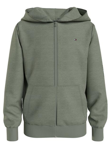tommy-hilfiger-boys-essential-hooded-zip-through-olive