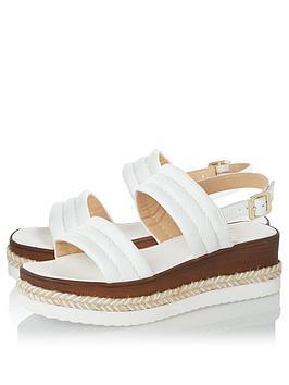 Dune London Kazzy Wedge Sandal - White