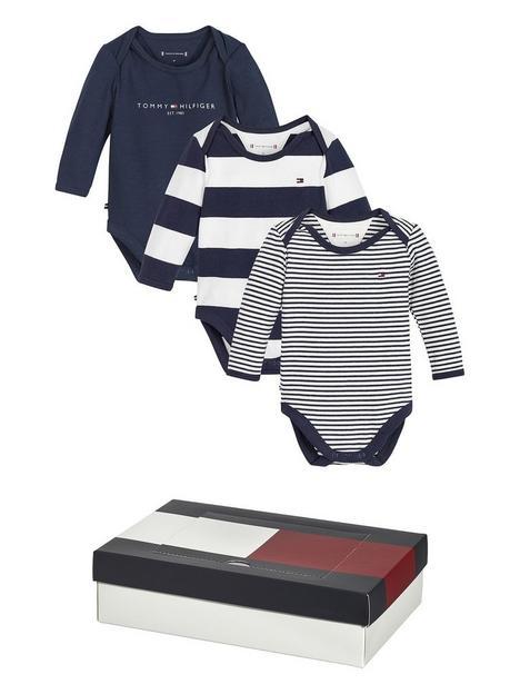 tommy-hilfiger-baby-boys-3-pack-bodysuit-gift-box-navy