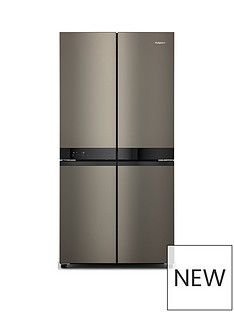 indesit-hotpoint-active-4-door-hq9u1bl-fridge-freezer-black-stainless