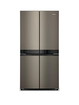Hotpoint Active 4-Door Hq9U1Bl Fridge Freezer - Black Stainless Best Price, Cheapest Prices
