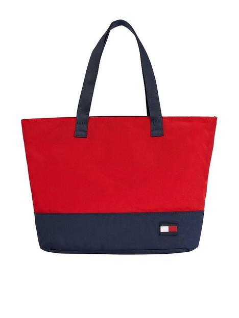 tommy-hilfiger-girls-corporate-tote-bag-rednavy