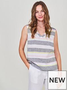 white-stuff-island-stripe-linen-vest-purple