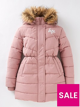 hype-girlsnbspfitted-parka-pink