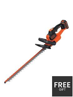 black-decker-18v-cordless-li-ion-45cm-2ah-powercommand-hedge-trimmer-gtc18452pc-gb
