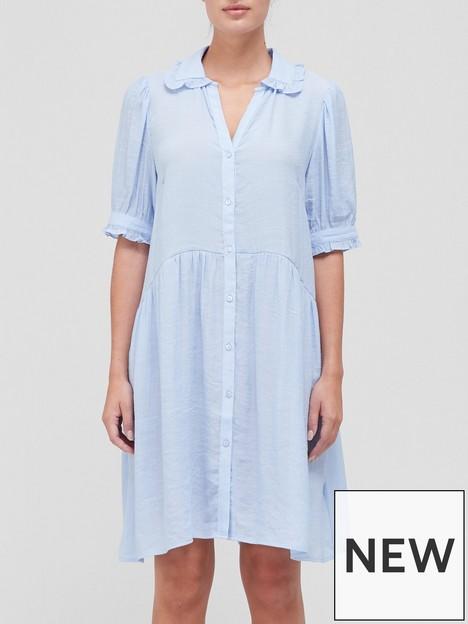sofie-schnoor-frill-detail-shirt-dress-blue