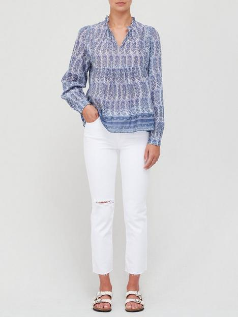 sofie-schnoor-paisley-print-blouse-blue
