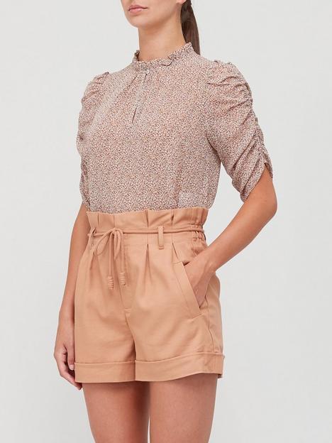 sofie-schnoor-shirring-detailnbspprinted-blouse-pink