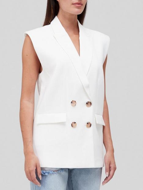 sofie-schnoor-double-breasted-sleeveless-blazer-white