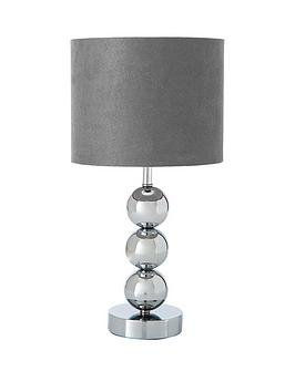 ball table lamp. ingrid-faux-suede-3-ball-table-lamp ball table lamp
