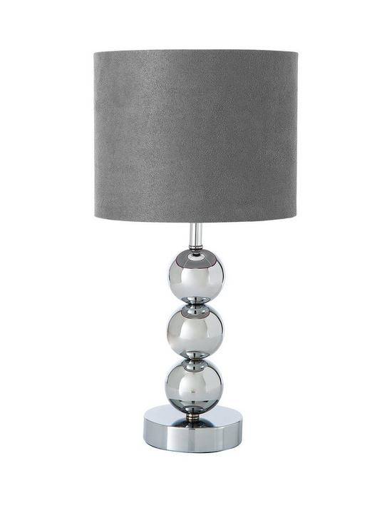 Ingrid faux suede 3 ball table lamp very co uk