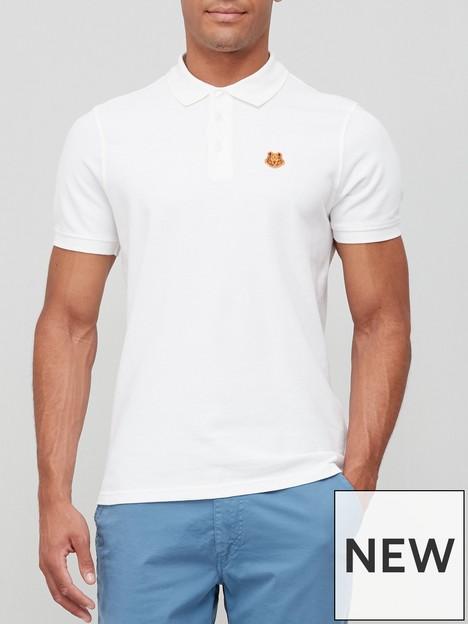 kenzo-tiger-crest-polo-shirt-white