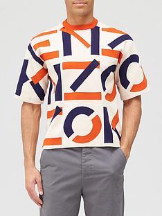kenzo-monogram-classic-short-sleeve-jumper-beige-nbsp
