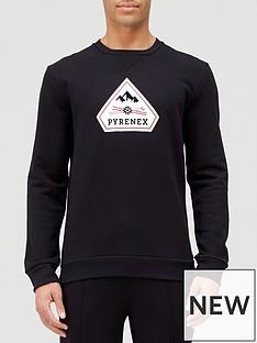 pyrenex-charles-logo-sweatshirt-black