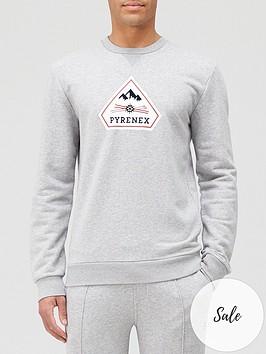 pyrenex-charles-logo-sweatshirt-greynbsp
