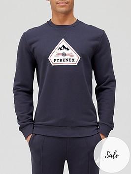 pyrenex-charles-logo-sweatshirt-navy