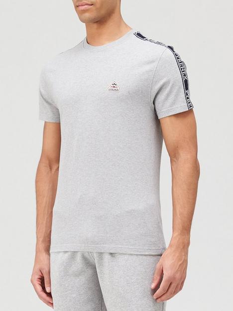 pyrenex-randy-tape-detail-t-shirt-grey