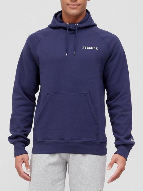 pyrenex-range-back-logo-print-overhead-hoodie-blue