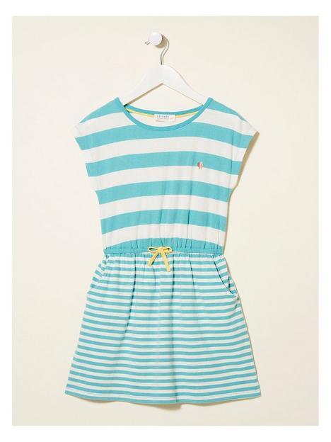 fatface-girls-callie-stripe-jersey-dress-aqua-marine
