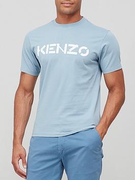 kenzo-classic-logo-t-shirt-blue